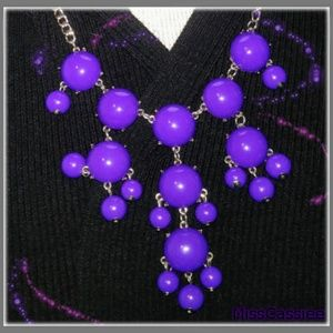 QVC acrylic purple chain statement necklace